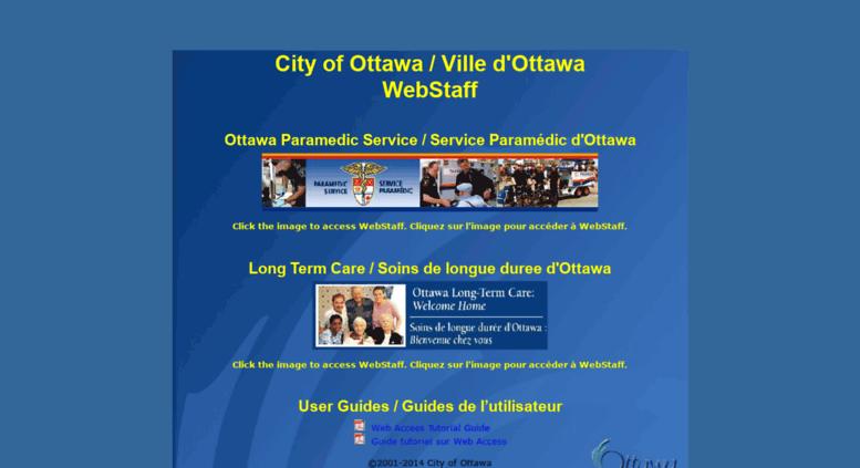 Access webstaff ottawa ca  City of Ottawa TeleStaff Web Access