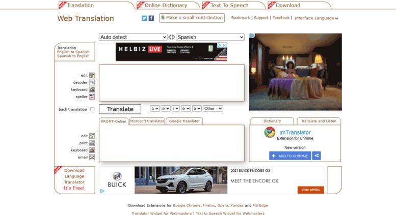 Access webtranslation paralink com  Web Translation, Online