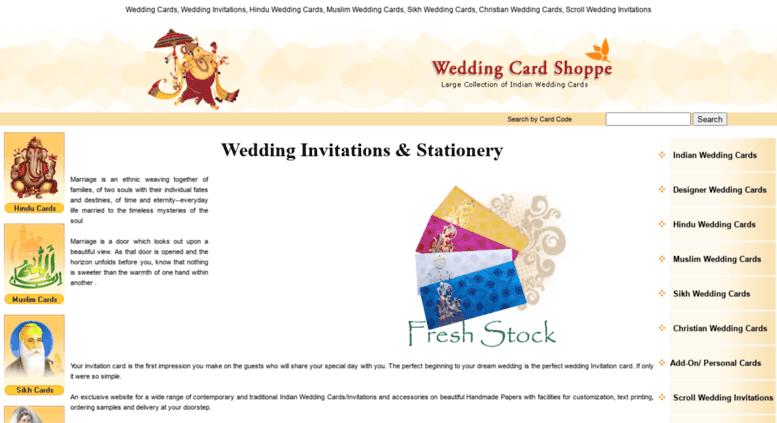 Access Weddingcardshoppe Com Indian Wedding Cards Wedding