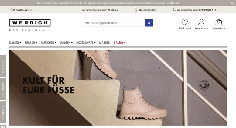 Access . WERDICH Der Online Schuhshop