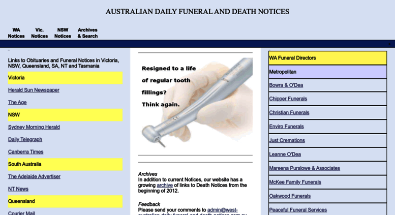 Access west-australian-daily-funeral-and-death-notices com