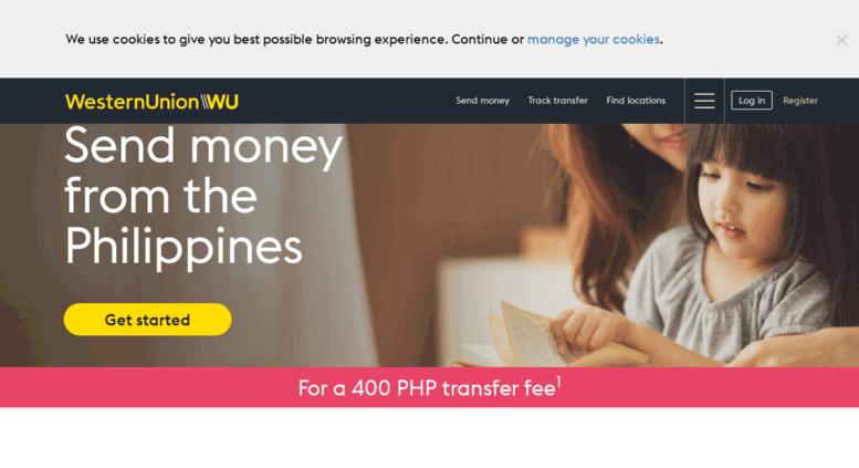 Access westernunion ph  Western Union - Send Money Worldwide