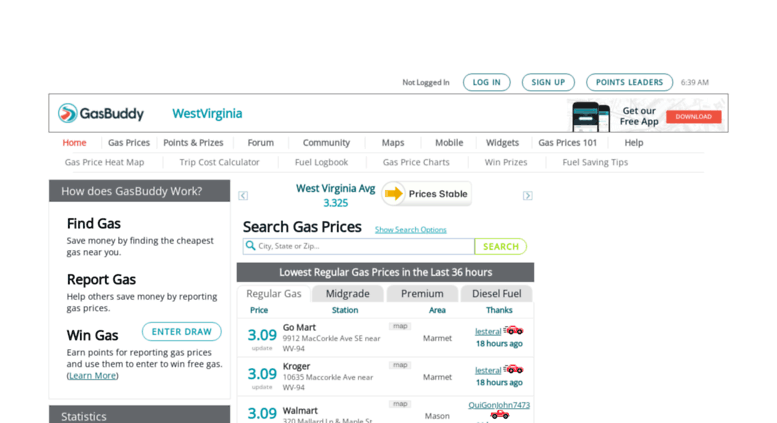 Gas Prices In West Virginia >> Access Westvirginiagasprices Com West Virginia Gas Prices