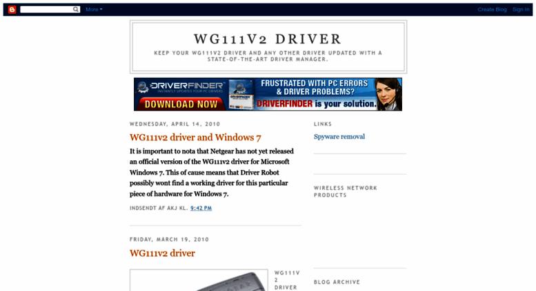 Access wg111v2-driver. Blogspot. Com. Wg111v2 driver.