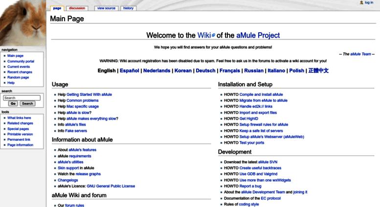 Access wiki amule org  AMule Project FAQ
