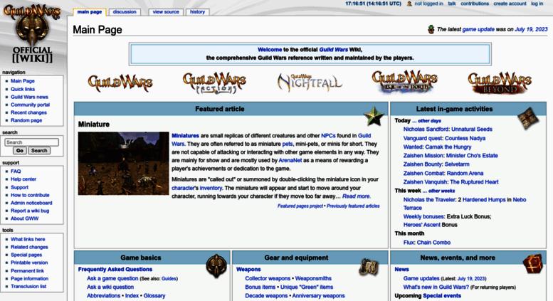 Access wiki guildwars com  Guild Wars Wiki