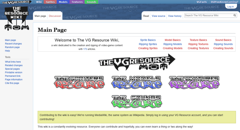 Access wiki vg-resource com  The VG Resource Wiki