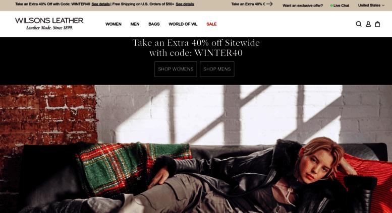 8fe88aa8c5b45 Access wilsonleather.com. Wilsons Leather - Men s and Women s ...