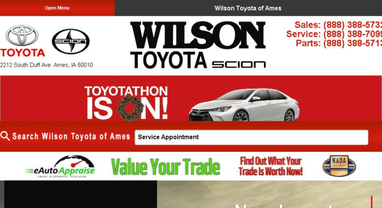 Wilson Toyota Ames >> Access Wilsonofamestoyota Calls Net Toyota Dealer Near