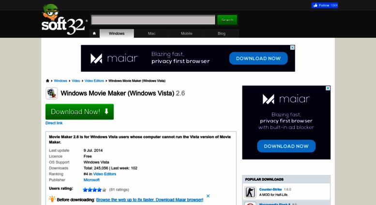 free download windows movie maker 2.6