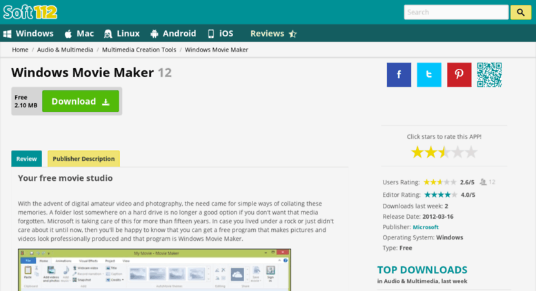 windows movie maker app download for android