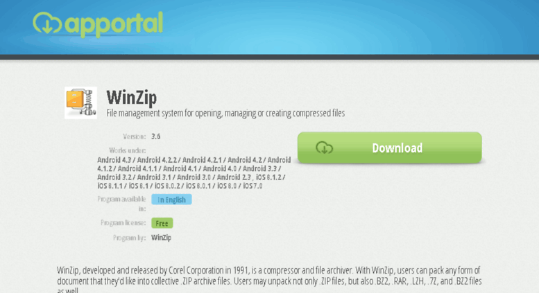 Access winzip apportal co  WinZip - Review