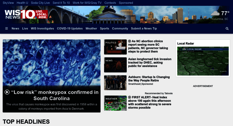 Access wistv com  Home - South Carolina's news, weather and sports