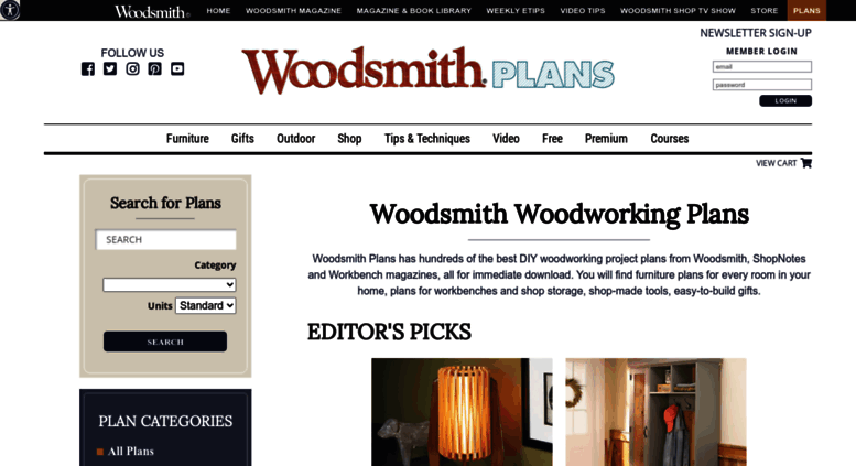 Access Woodsmithplans Com Woodsmith Plans