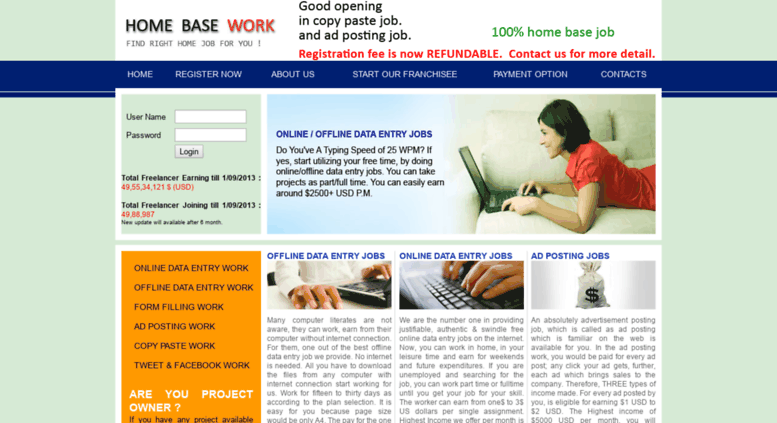 Access workforhome in  work for home, work from home, copy