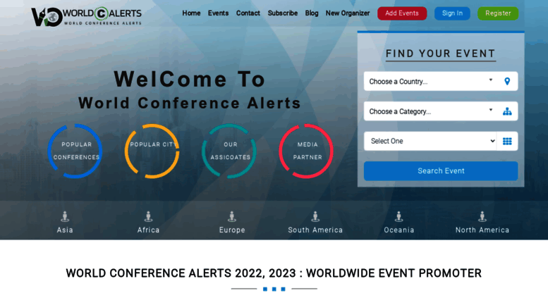 Access worldconferencealerts com  World Conference Alerts
