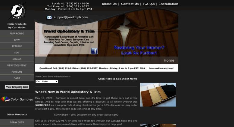 Access Worlduph Com World Upholstery Trim American Manufacturer