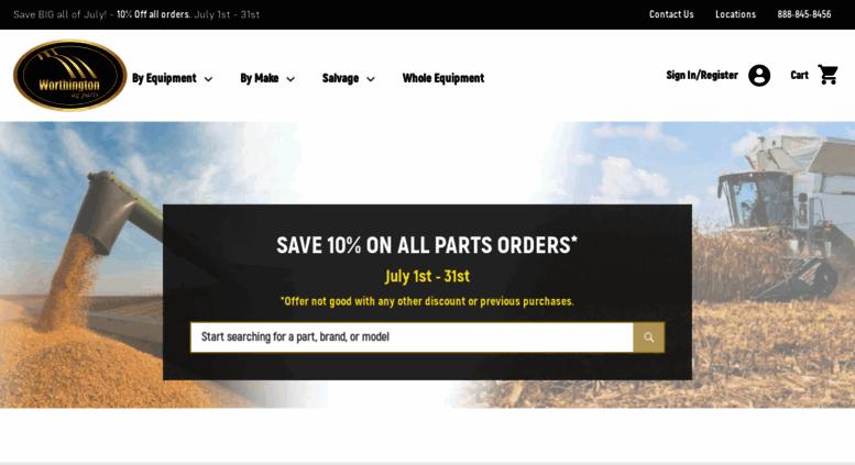 Access worthingtonagparts com  Tractor Parts | Used Parts