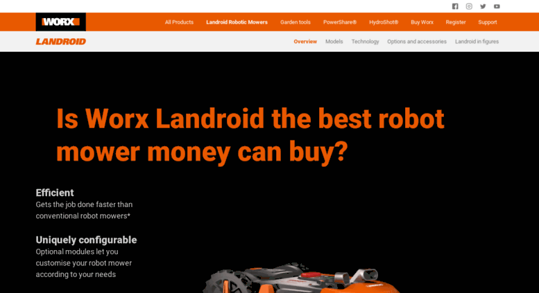 Access Worxlandroid Com Landroid Robot Lawn Mower By Worx The