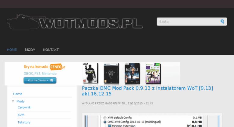 Access wotmods pl  Mody (Modyfikacje), XVM, Paczki