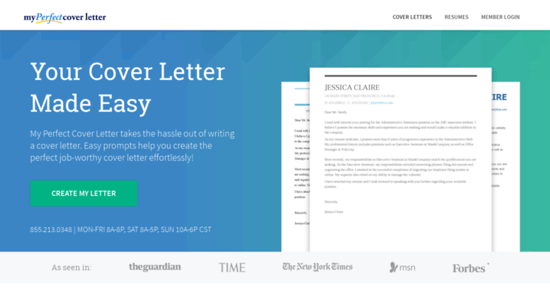 Access Wpmyperfectcoverletter Build Your Cover Letter
