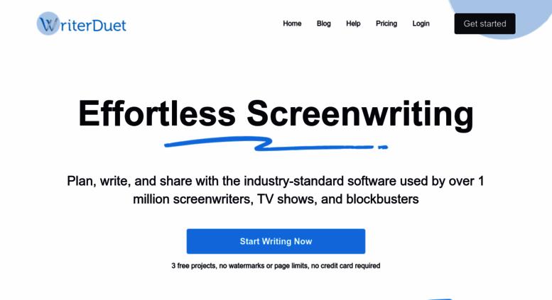 Access writerduet com  WriterDuet | Professional