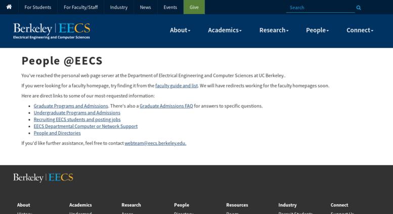 Access www-cad eecs berkeley edu  People @ EECS at UC Berkeley