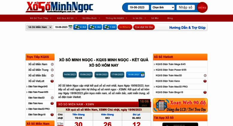 Access Xosominhngoc Net Vn Xổ Số Minh Ngọc Xsmn Xsmb Vietlott Kqxs Minh Ngọc