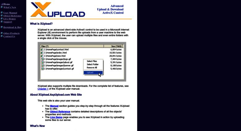 Access xupload aspupload com  XUpload AspUpload com