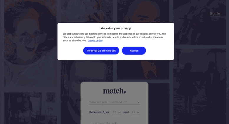 Yahoo match search