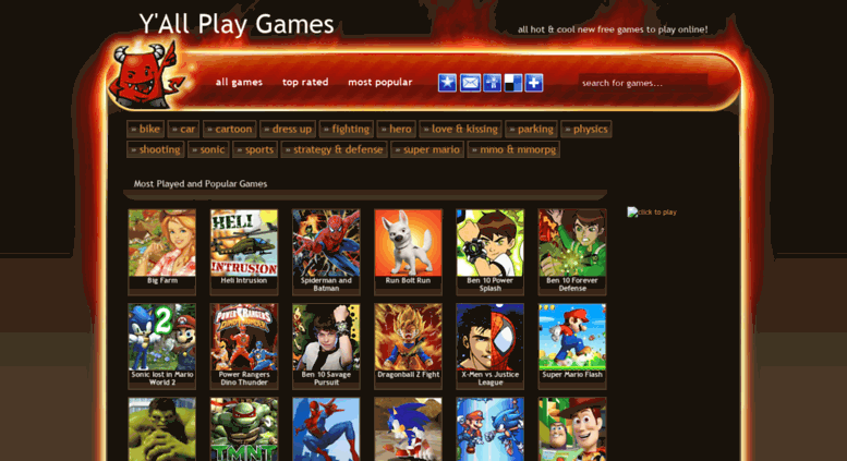 Access yallplaygames com  play free games online: Y'All Play
