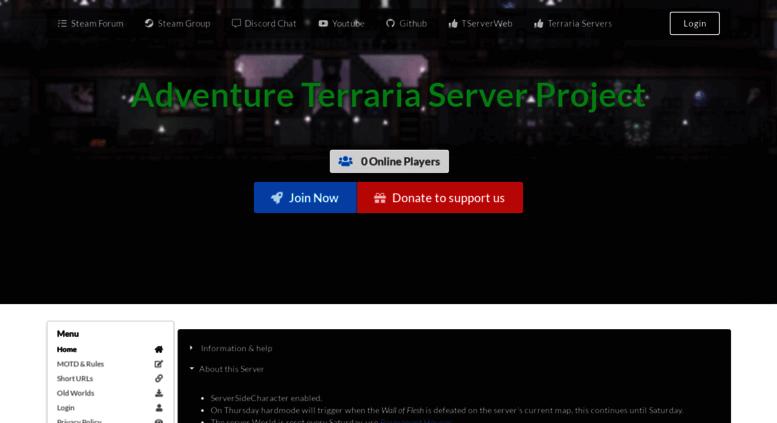 Access yamahi eu  Adventure Terraria Server Project