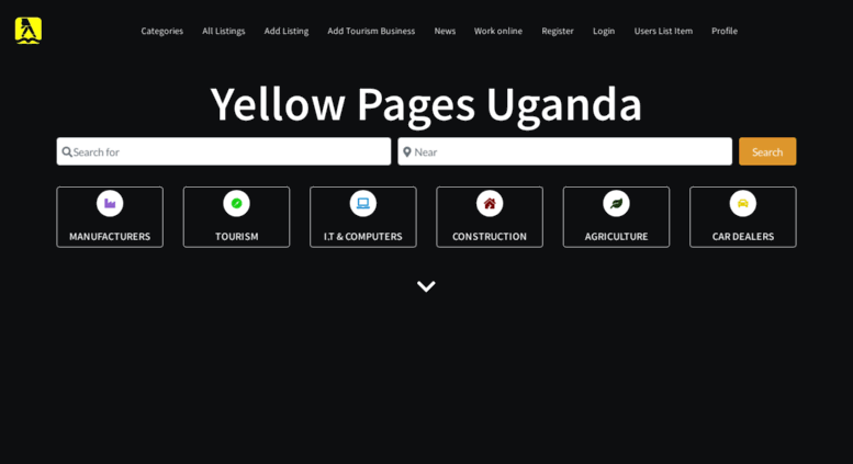 Access yellowpages-uganda com  Yellow Pages Uganda business