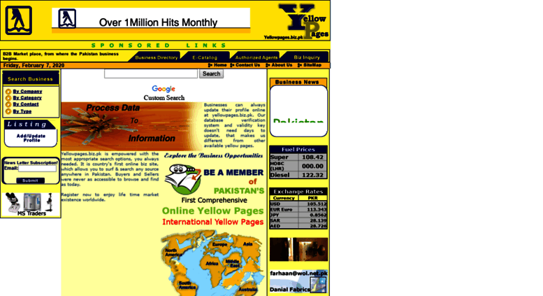 Access yellowpages biz pk  Welcome to Yellow Pages [Home Page]