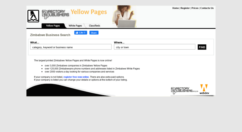 Access yellowpages co zw  Zimbabwe Yellow Pages & White Pages
