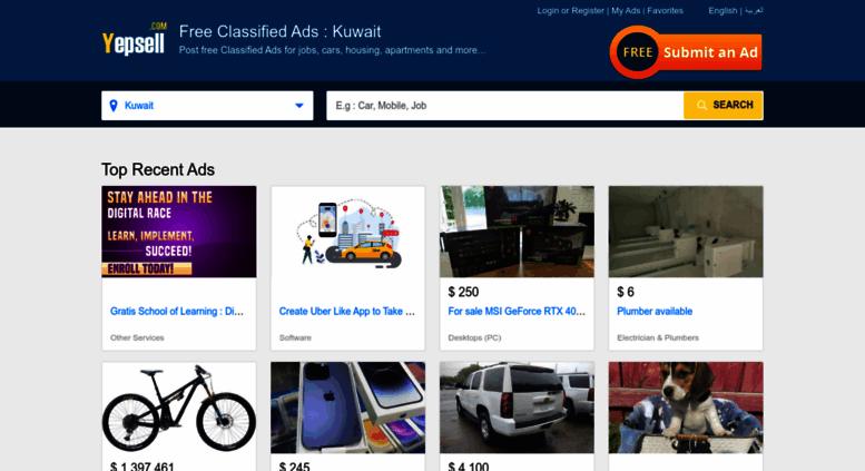 Access yepsell com  YepSell Classifieds Ads Kuwait