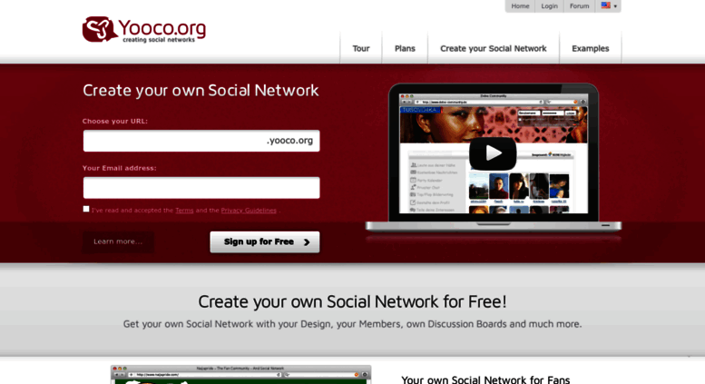create social network free