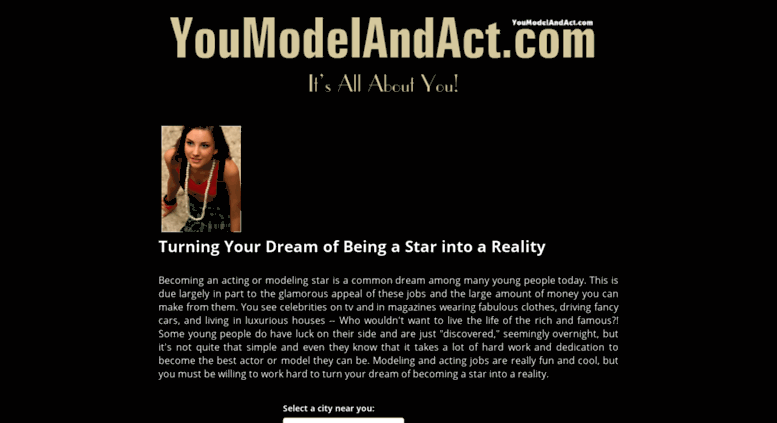 Access Youmodelandact Com Acting And Modeling You Model And