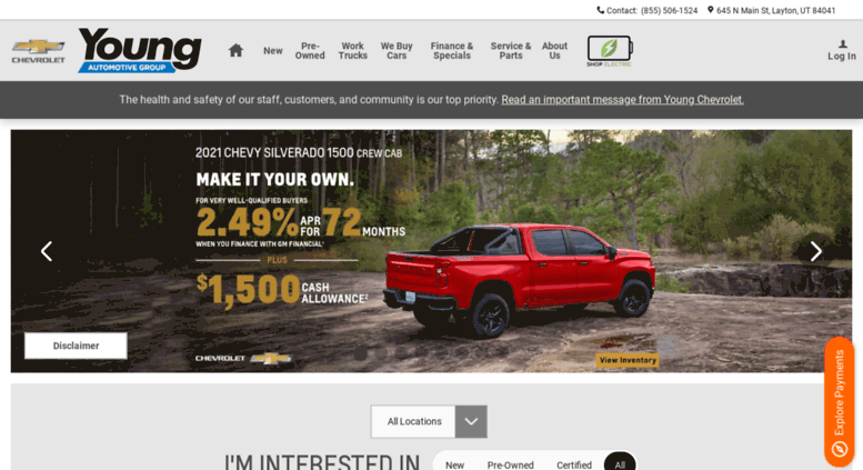 Young Chevrolet Layton Utah >> Access Youngchev Com Chevy Car Dealer Layton Ut Young