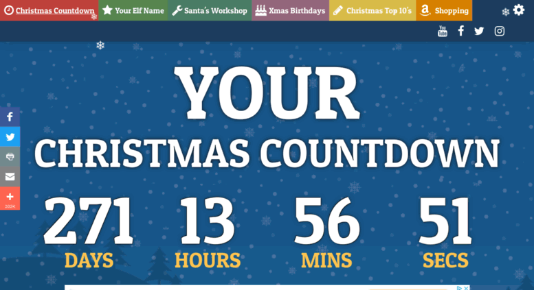 How Many Days Left For Christmas 2019.Access Yourchristmascountdown Com Your Christmas Countdown