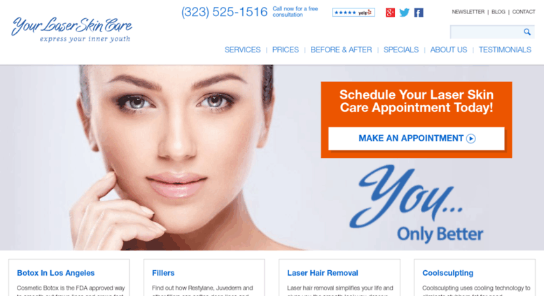 Access yourlaserskincare com  Los Angeles Botox, Laser Hair
