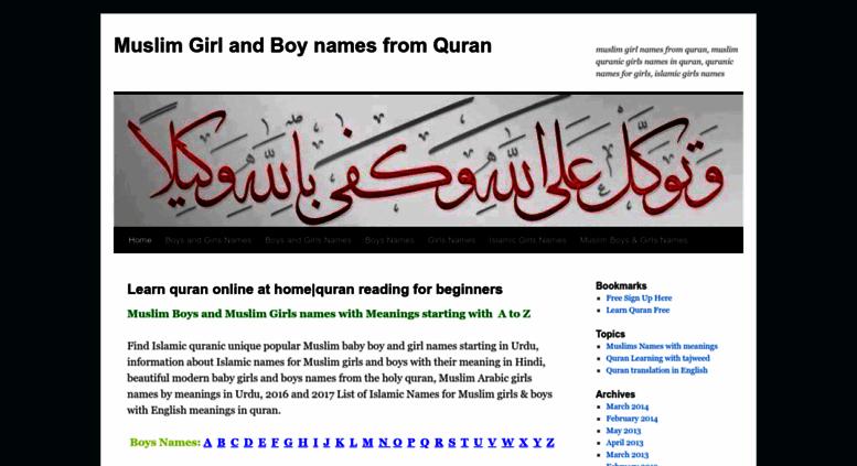 Access Yousafali011 Wordpress Com Muslim Girl And Boy Names From