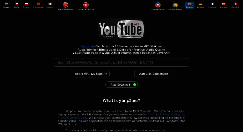 Access ytmp3 eu  ytmp3 eu - YouTube to MP3 Converter