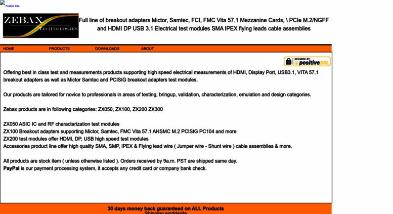 Access zebax com  Mictor Samtec HDMI USB breakout Adapter & more