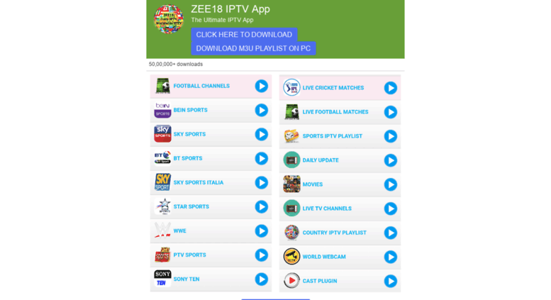 Access zee18 com  Zee18 - World's Daily IPTV Collection
