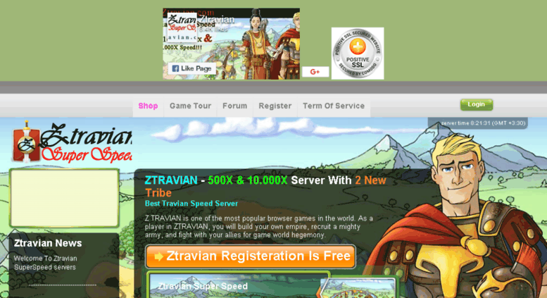 Access ztravian com  Ztravian The Best Travian Speed Server